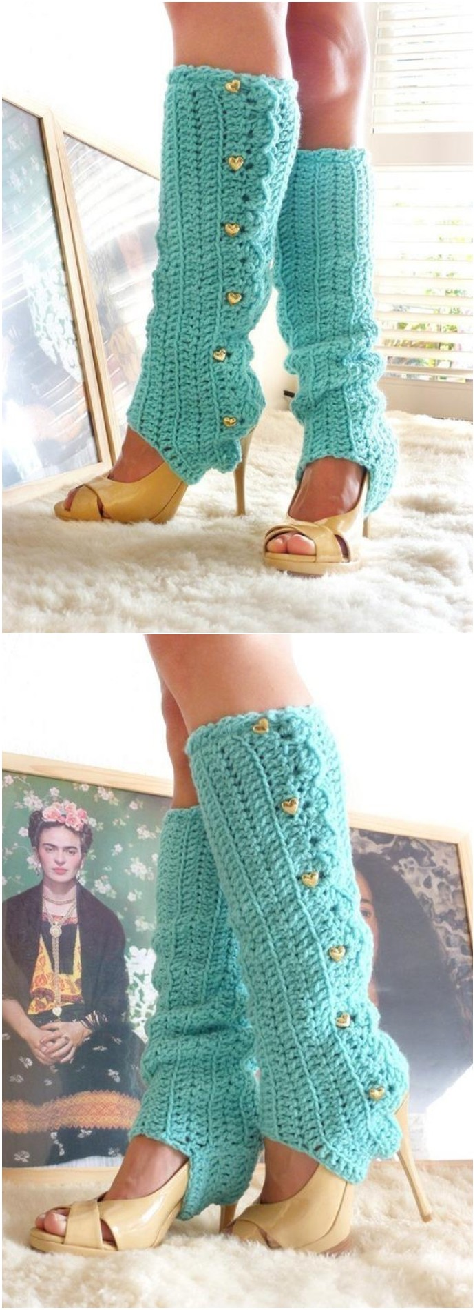 Adorable Crochet Leg Warmers With Stirrups