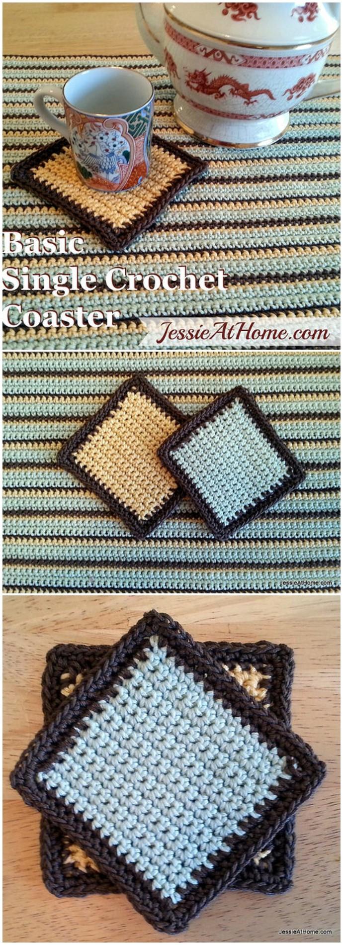 Basic Single Free Crochet Coaster