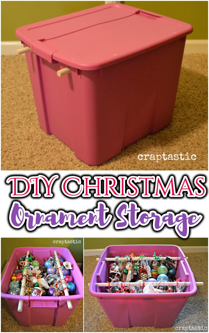 DIY Christmas Ornament Storage