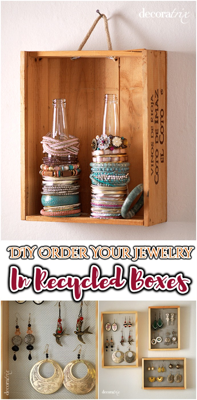 DIY Order Your Jewelry In Recycled Boxes