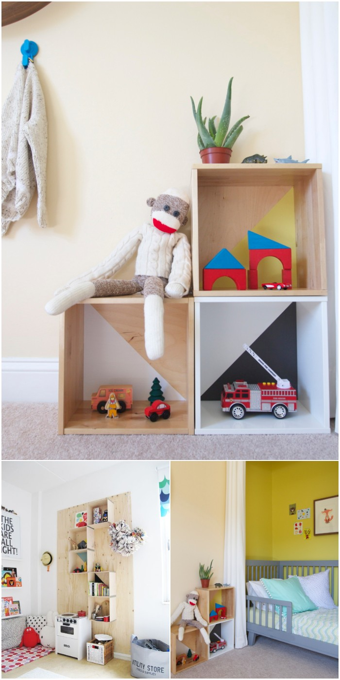 DIY: Quick & Easy Modern Toy Storage
