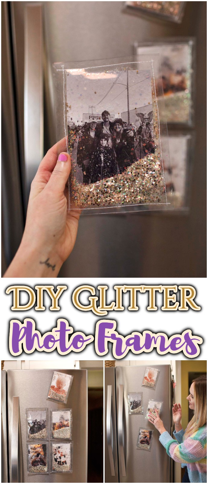 Diy Glitter Photo Frames