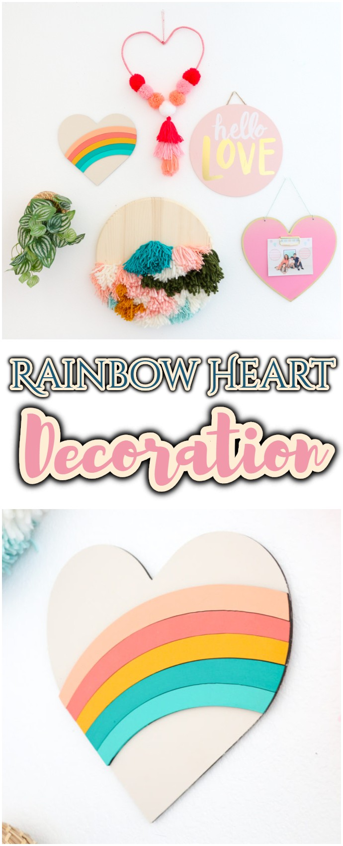 Diy Rainbow Heart Decoration With The Glowforge