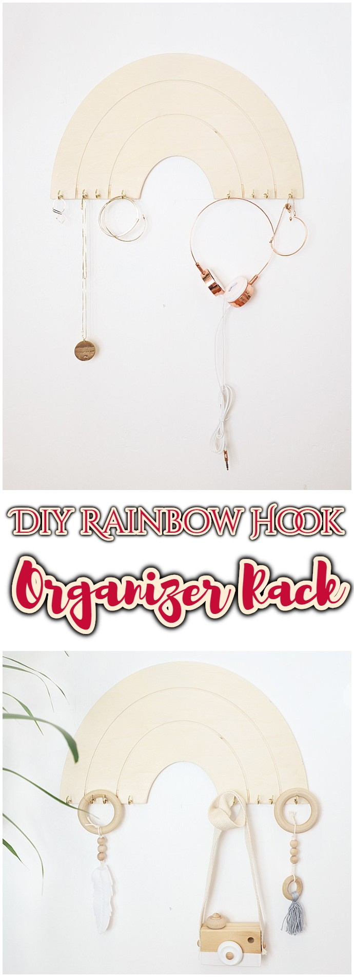 Diy Rainbow Hook Organizer Rack