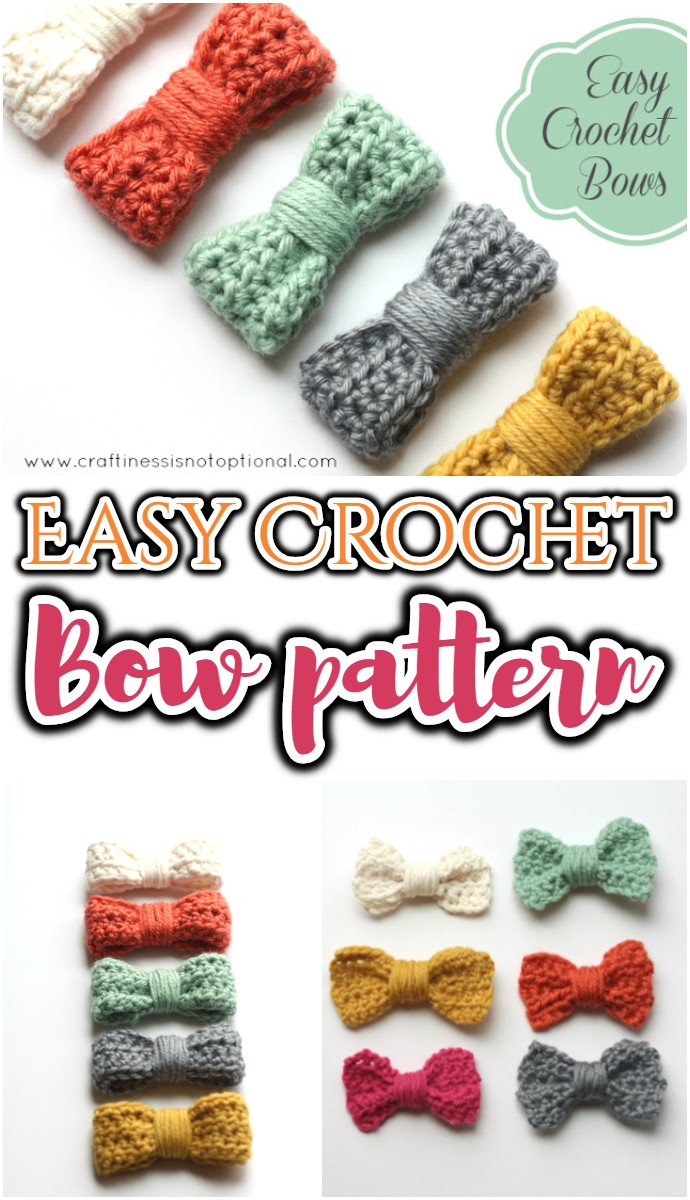 Easy Crochet Bow pattern