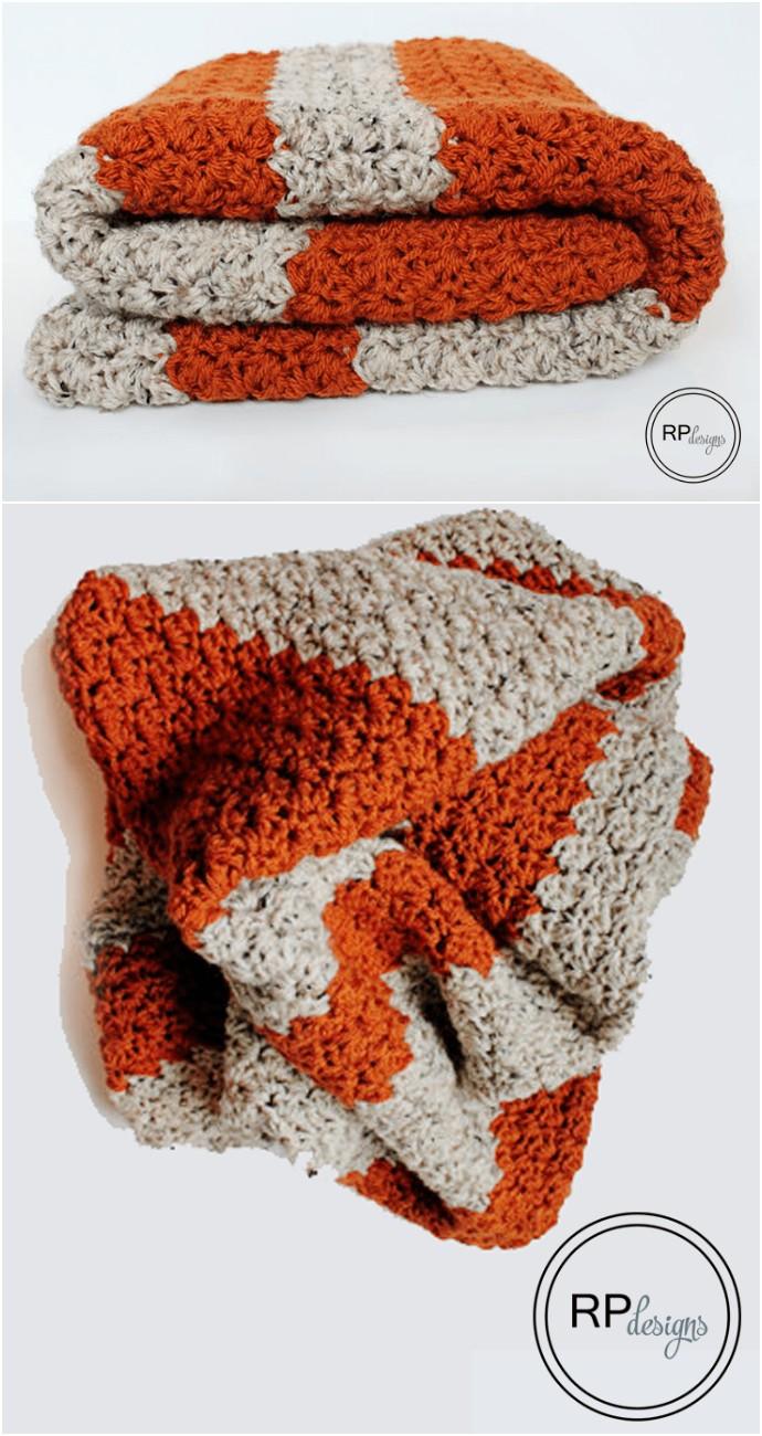 Fall Pumpkin Blanket Crochet Pattern