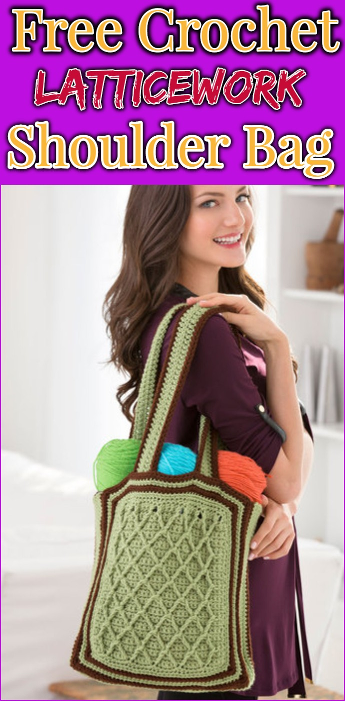 Free Crochet Latticework Shoulder Bag