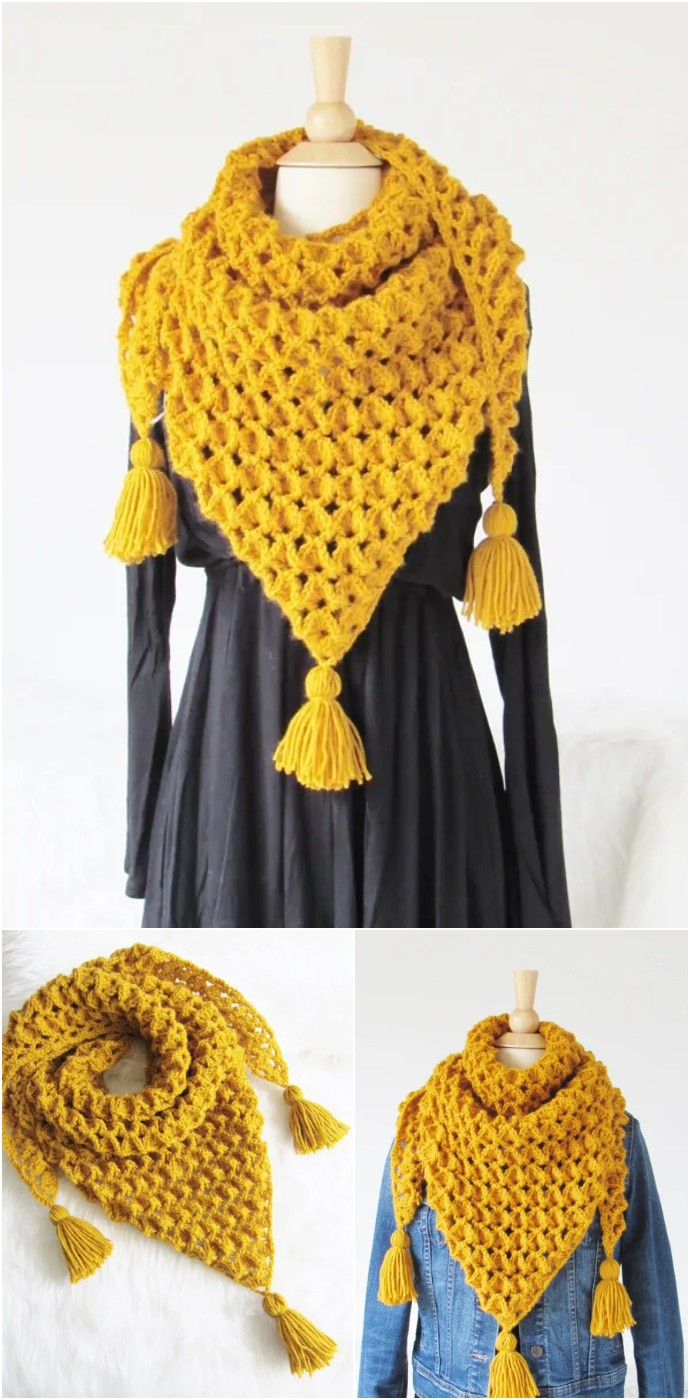 Free Crochet Scarf Pattern Rose Petals Scarf