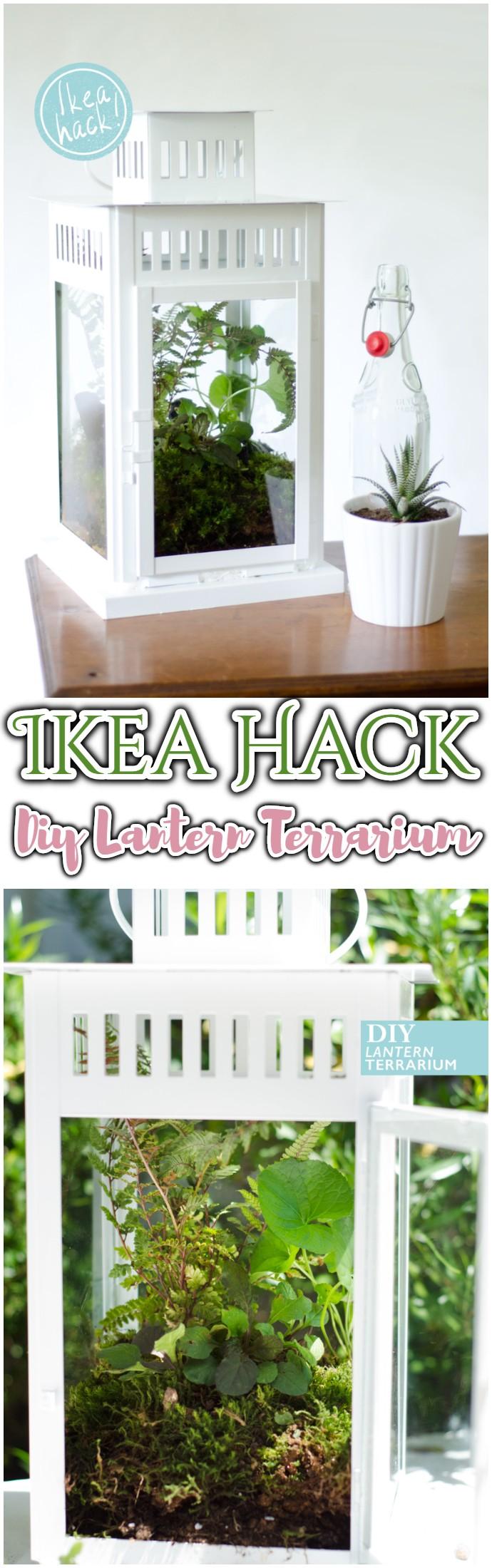 Ikea Hack Diy Lantern Terrarium