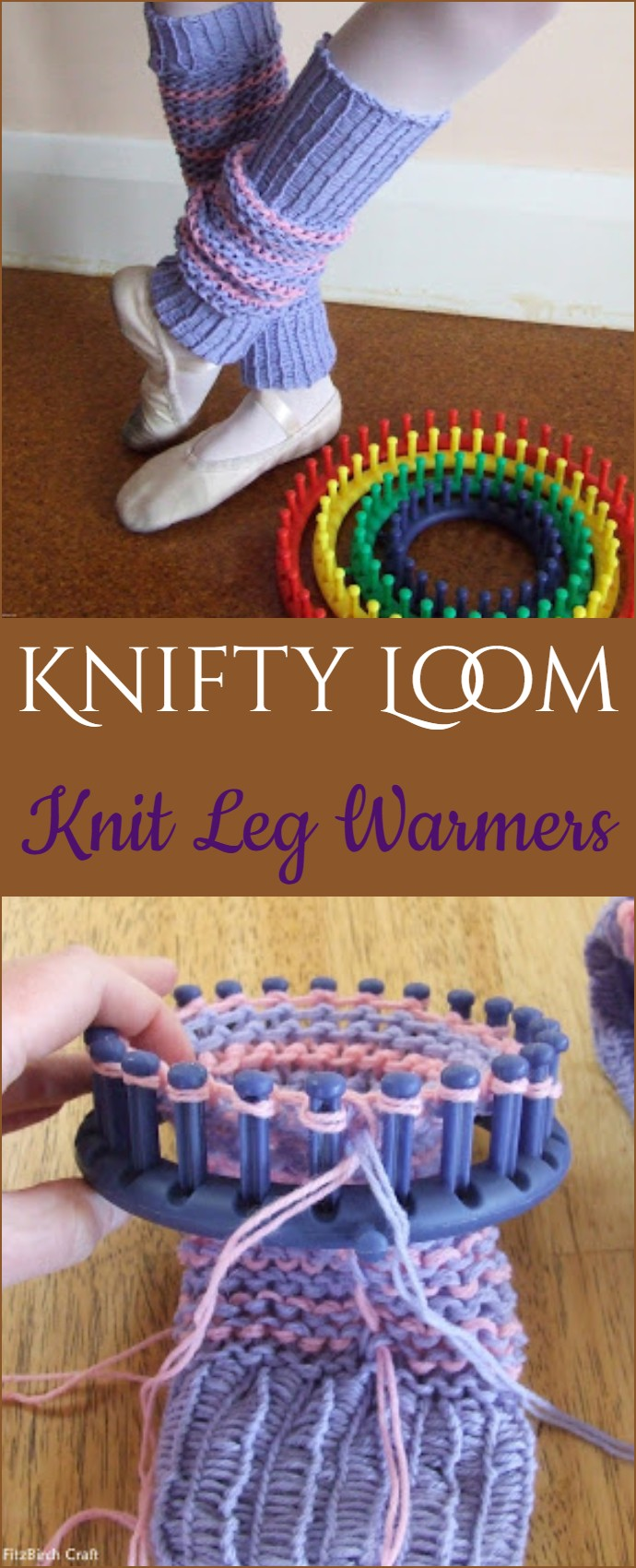 Knifty Loom Knit Leg Warmers