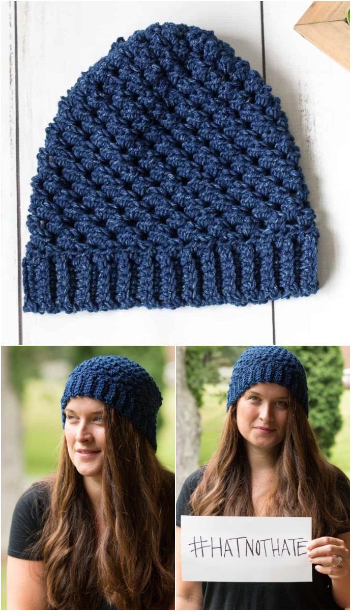 Leigh #hatnothate Hat Crochet Pattern