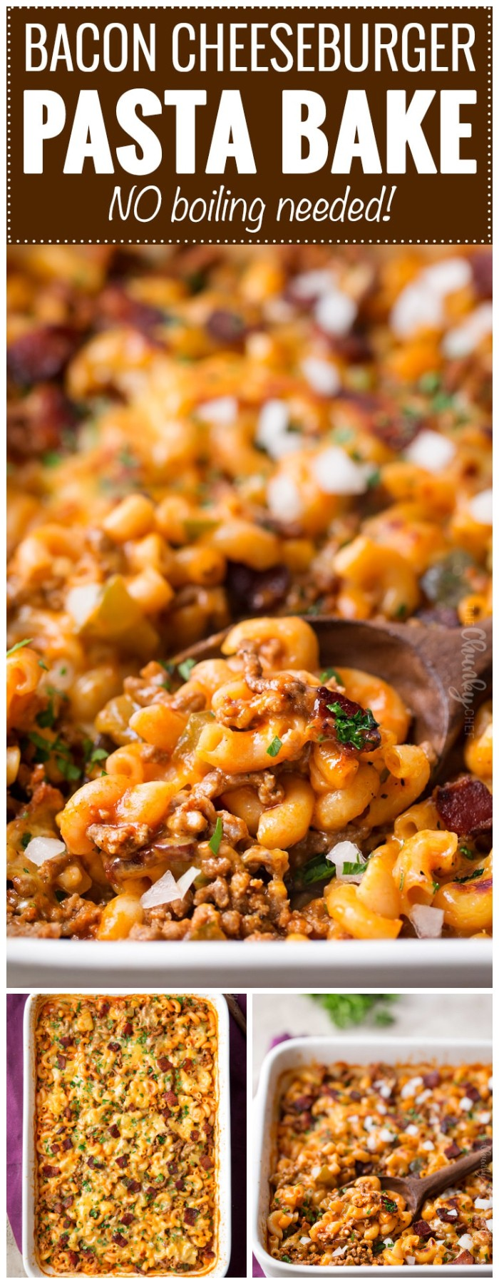 One Pan Bacon Cheeseburger Pasta