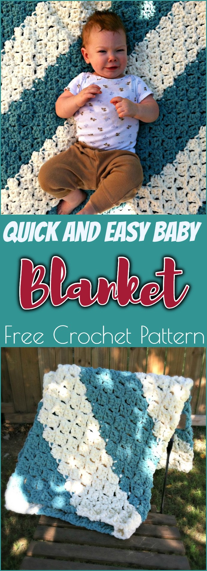 Quick And Easy Baby Blanket Free Crochet Pattern