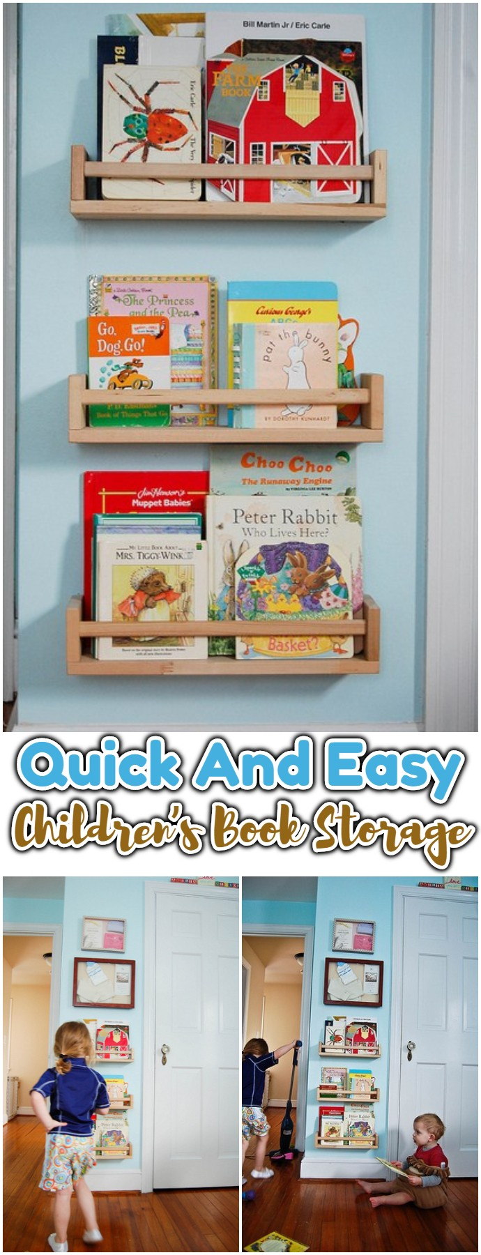 Quick And Easy Children's Book Storage