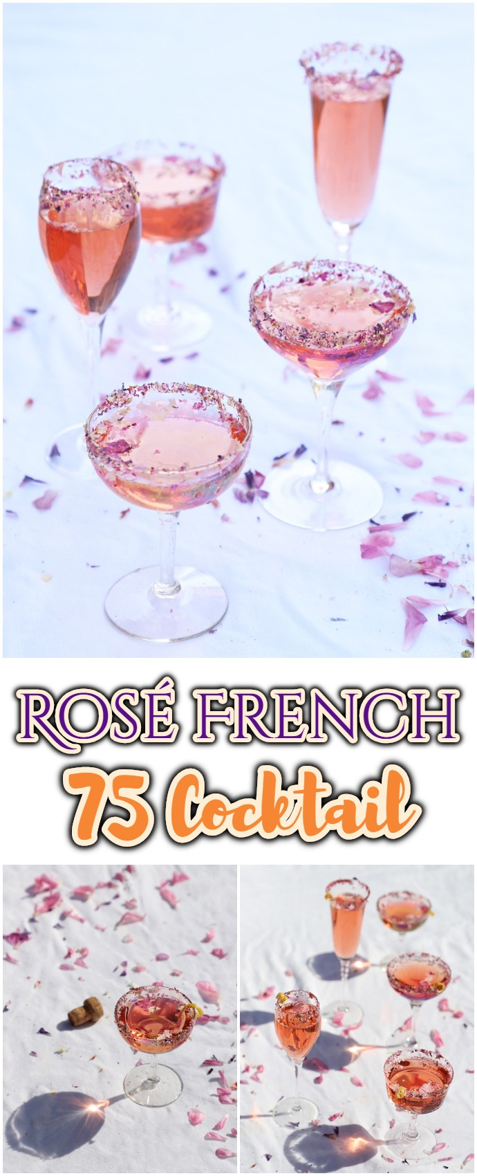 Rosé French 75 Cocktail