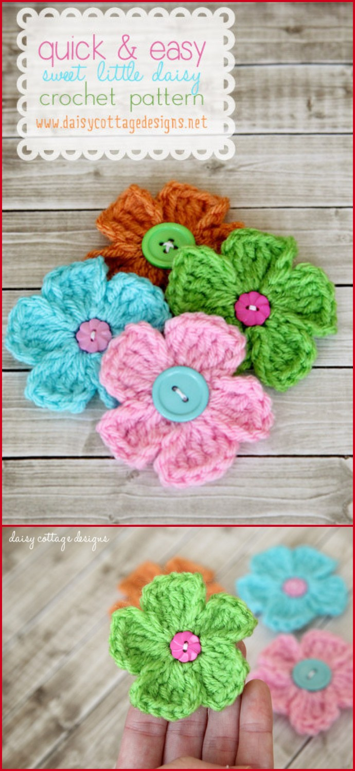 10 Easy Crochet Flower Free Patterns