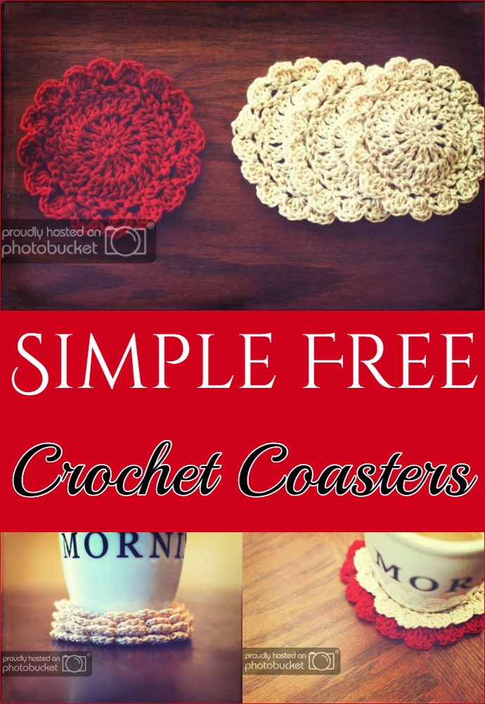 Simple Free Crochet Coasters