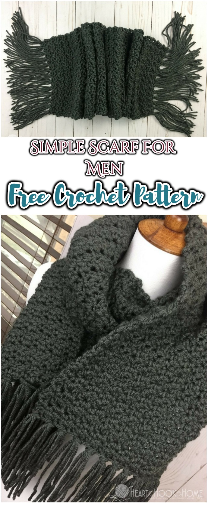 Simple Scarf For Men Free Crochet Pattern