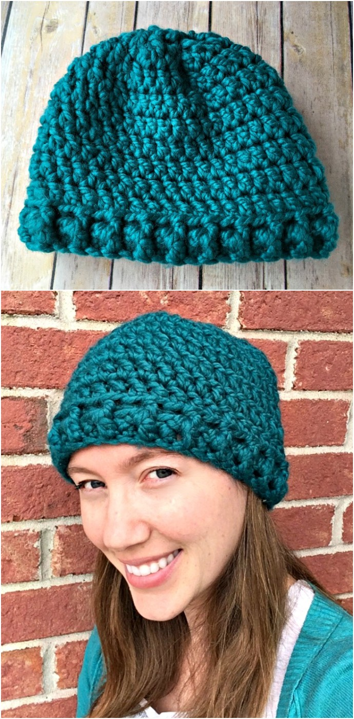Thick Quick Hat Free Crochet Pattern