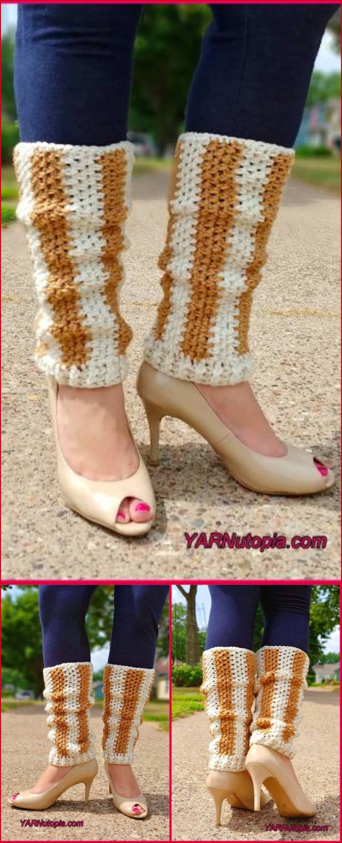 Vertical Striped Leg Warmers Free Crochet