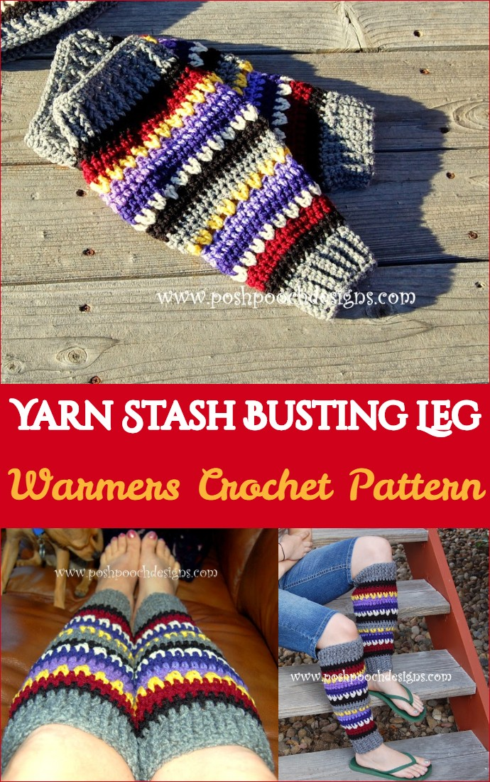 Yarn Stash Busting Leg Warmers Crochet Pattern