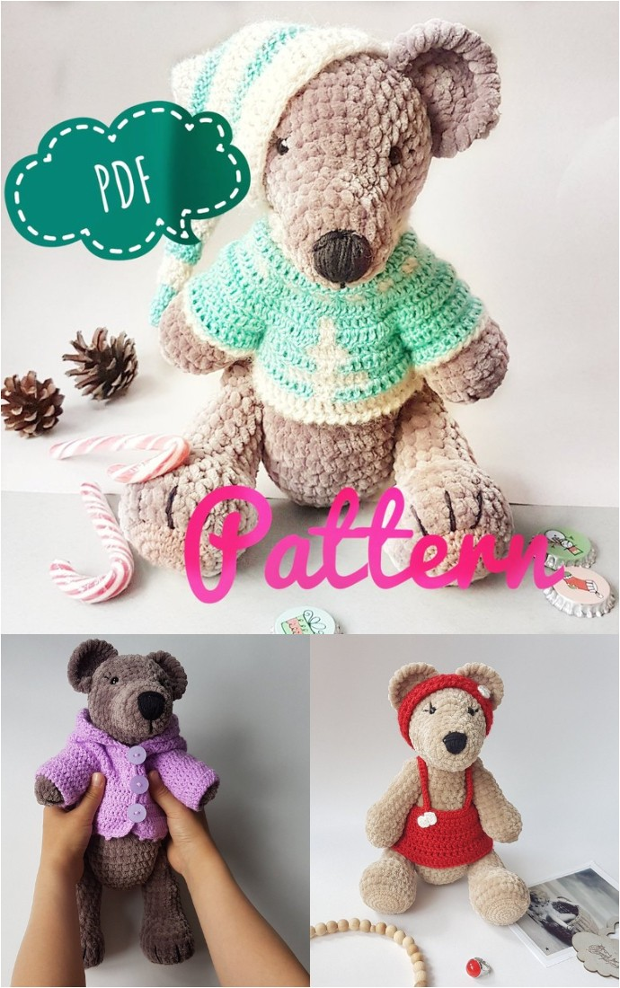 Amigurumi Teddy Bear In A Crochet Sweater