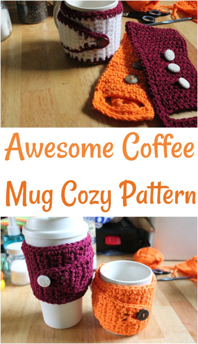Awesome Coffee Mug Cozy Pattern