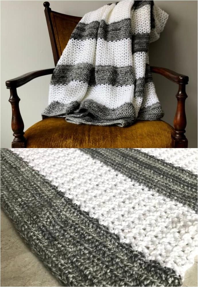 Coco Crochet Throw Hdc And V Stitch Crochet Blanket
