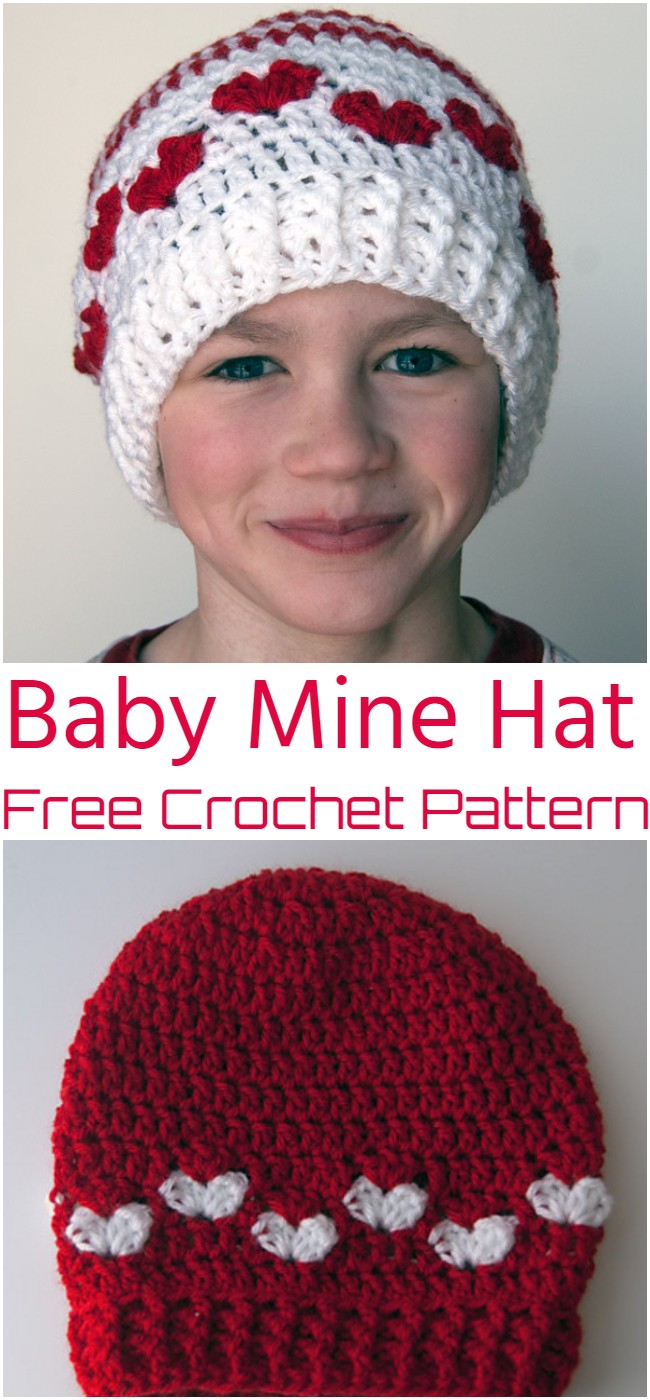 Crochet Baby Mine Hat Pattern