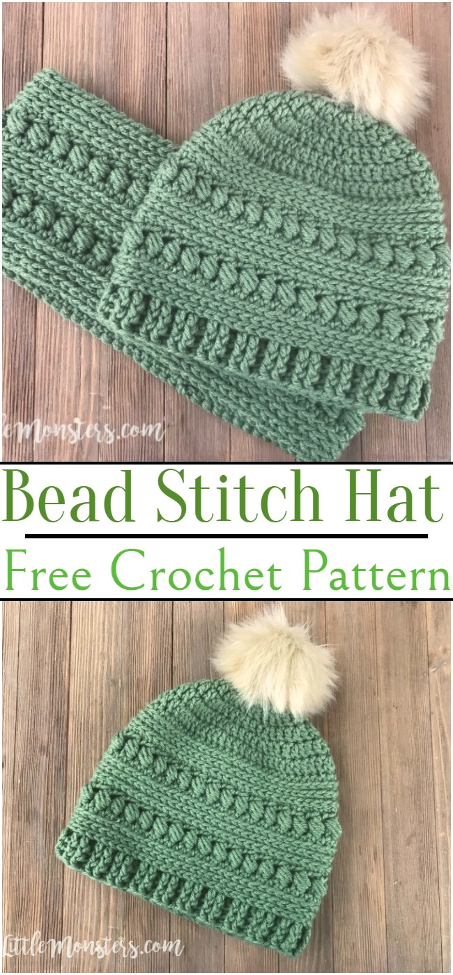 Crochet Bead Stitch Hat Pattern