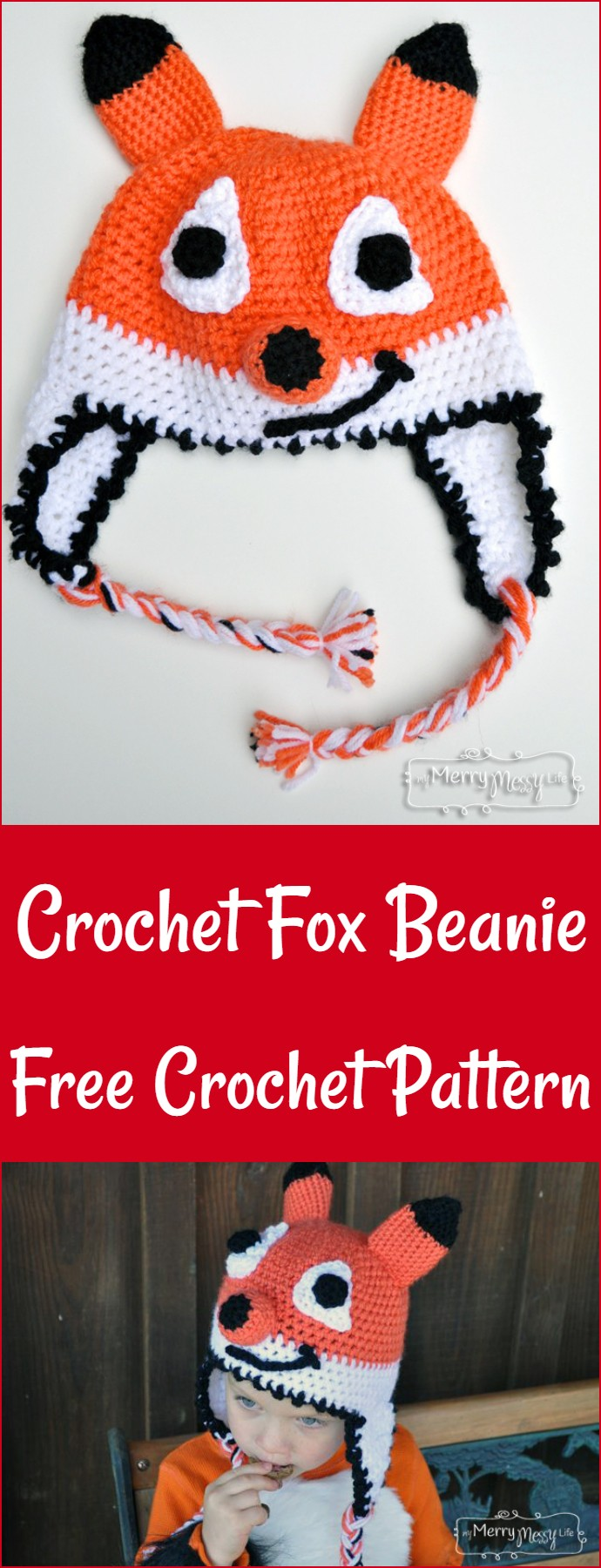 Crochet Fox Beanie Free Crochet Pattern