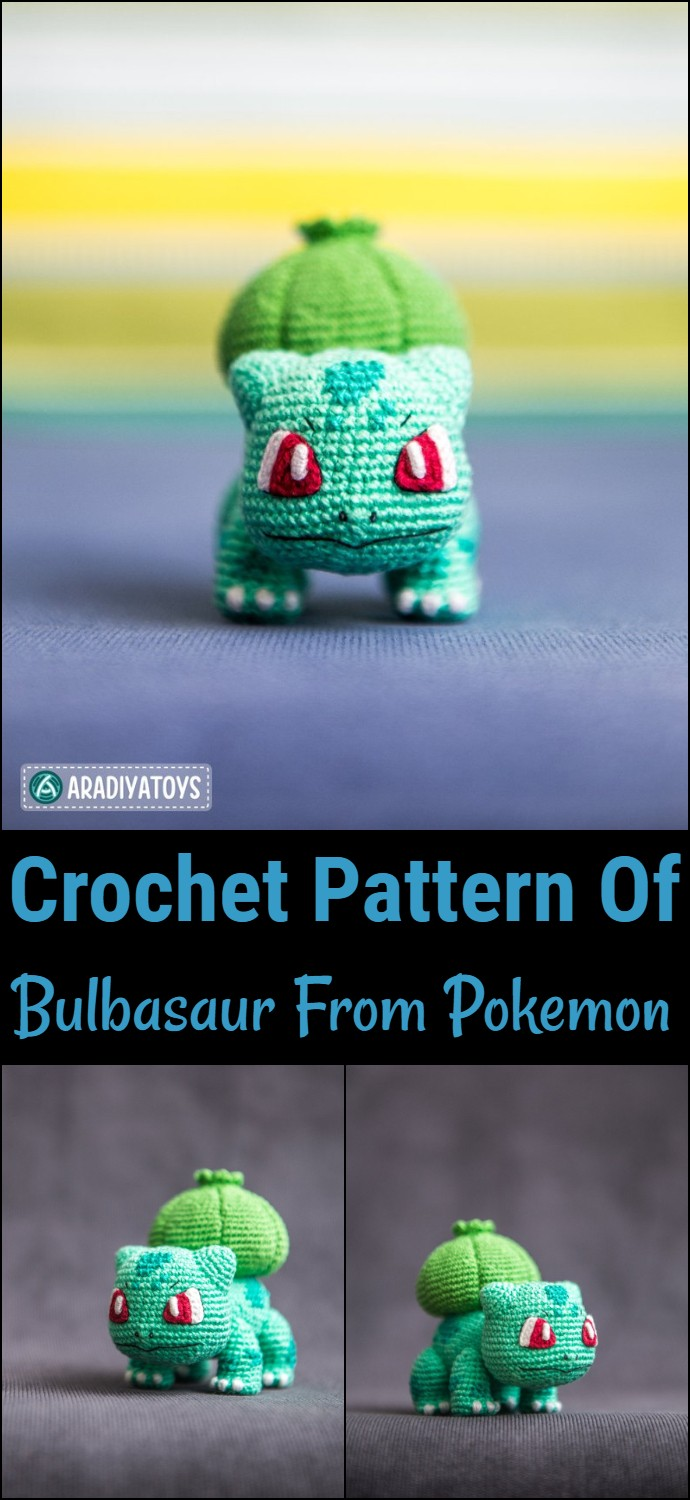 Crochet Pattern Of Bulbasaur From Pokemon