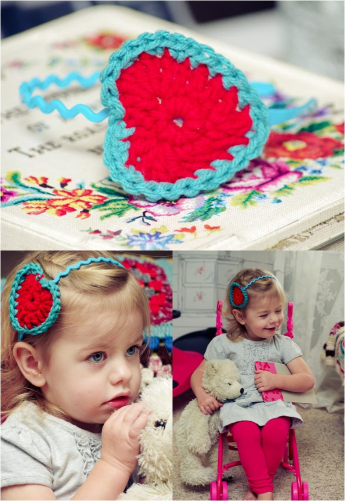 DIY Crochet Heart Headband