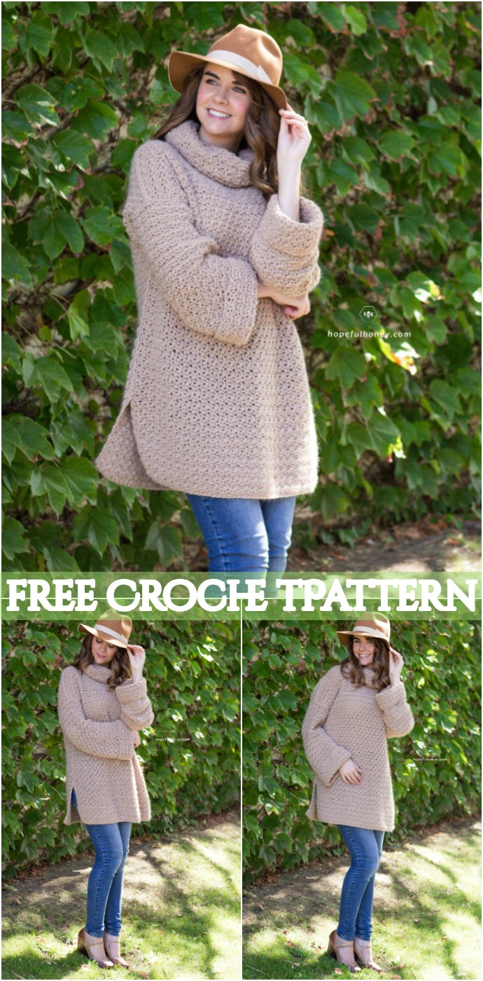 Fallow Fawn Roll Neck Sweater Crochet