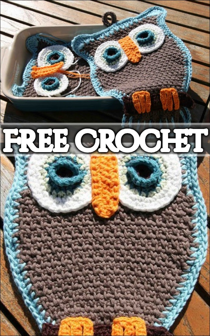 Fantastic Owl Potholder For Your Kitchen