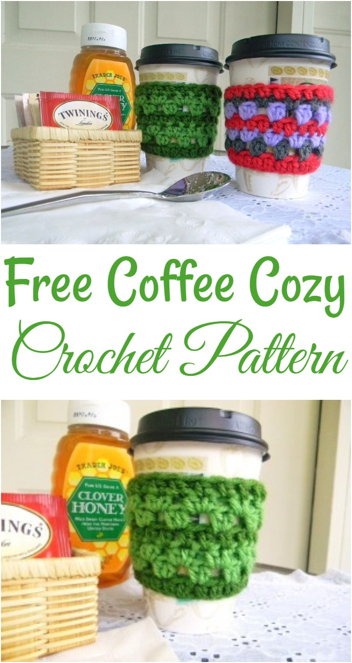 Free Coffee Cozy Crochet Pattern