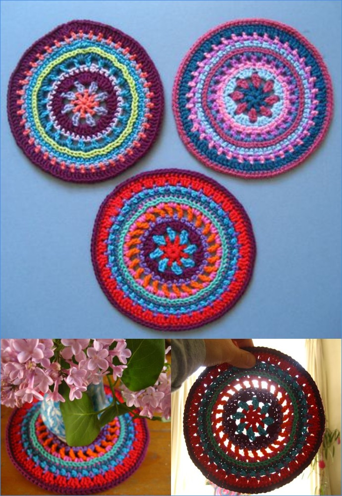 Free Crochet Attic24 Mandala Wheel