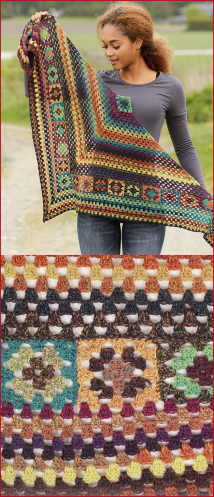 Free Crochet Autumn Harvest Shawl