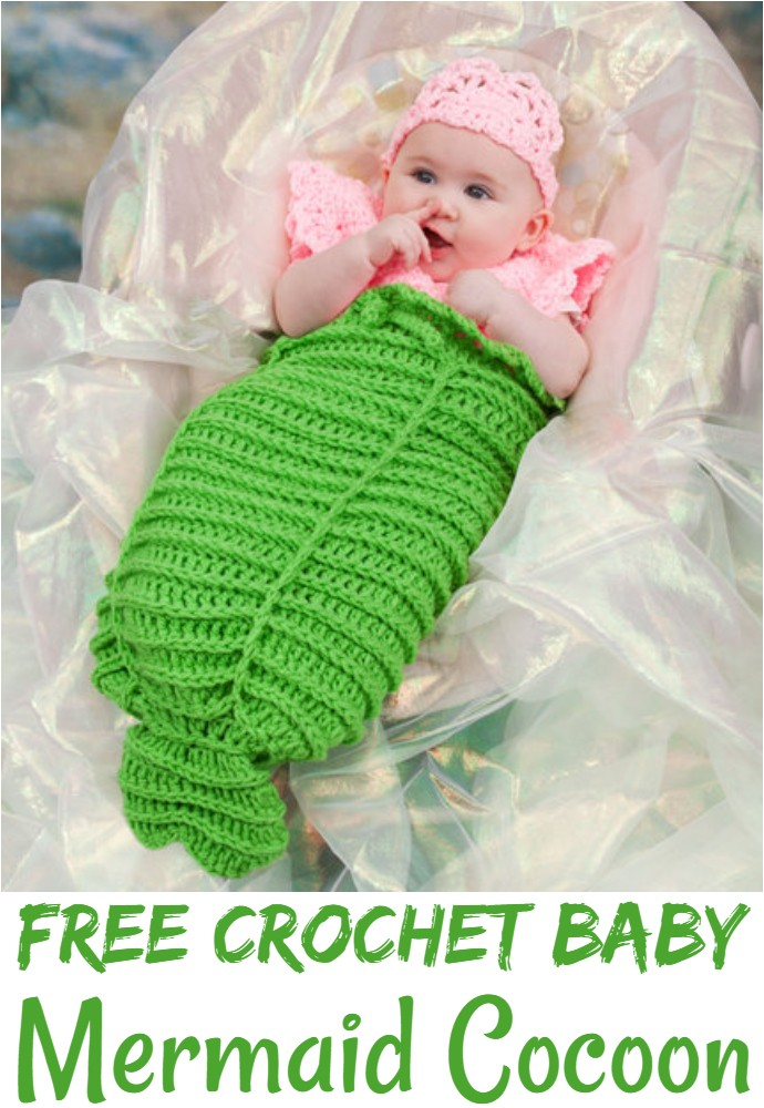 Free Crochet Baby Mermaid Cocoon