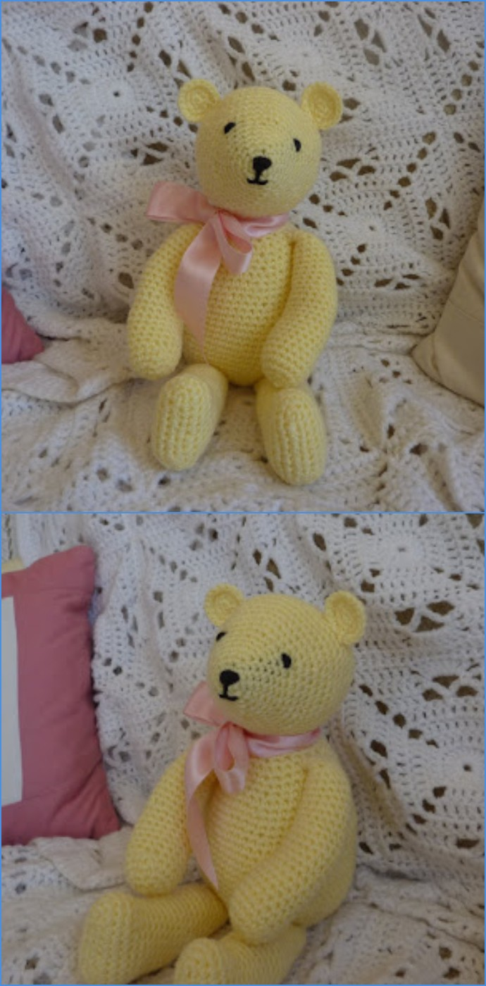 Free Crochet Buttercup Bear