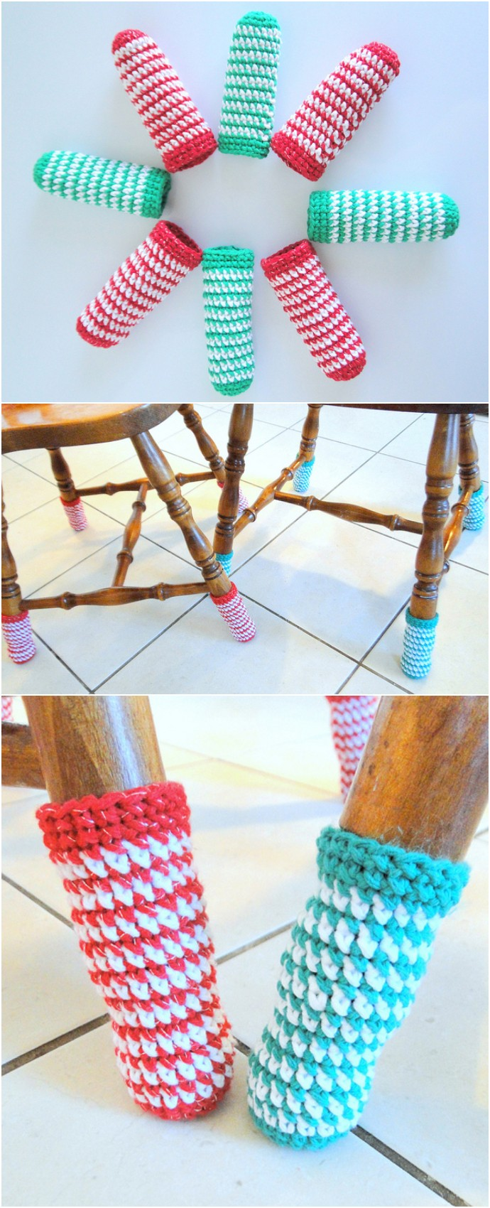 Free Crochet Christmas Chair Socks