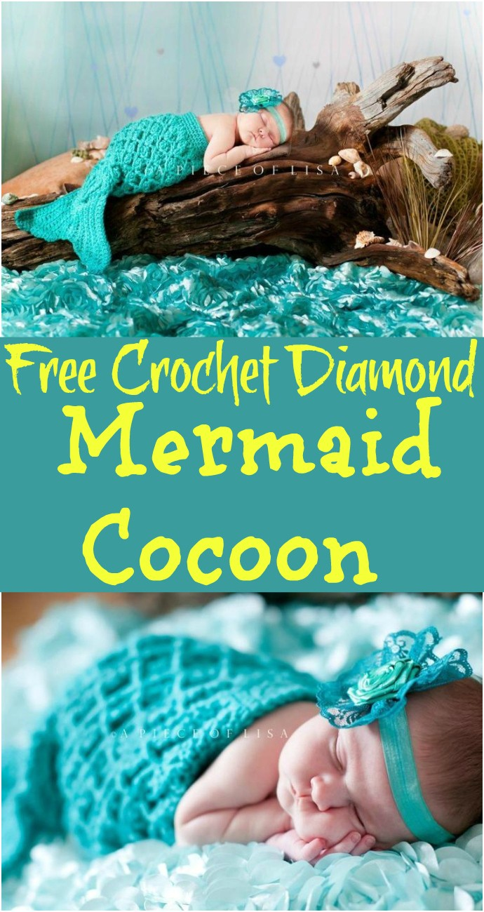 Free Crochet Diamond Mermaid Cocoon