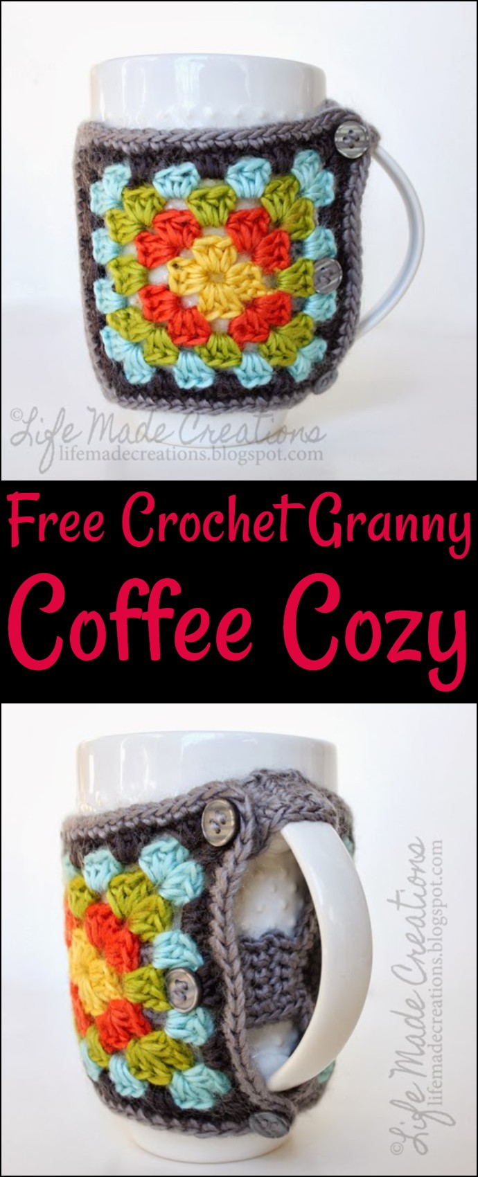 Free Crochet Granny Coffee Cozy