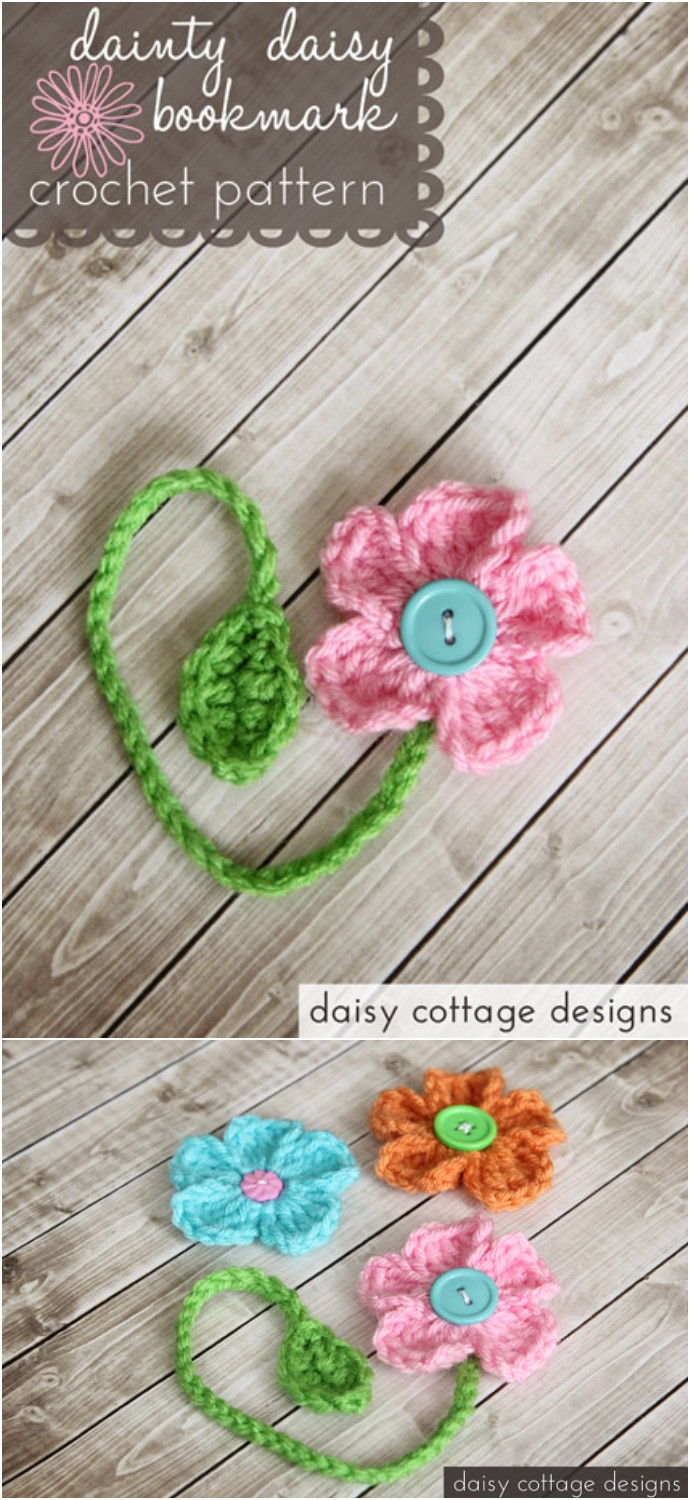 Free Crochet Pattern Dainty Daisy Bookmark