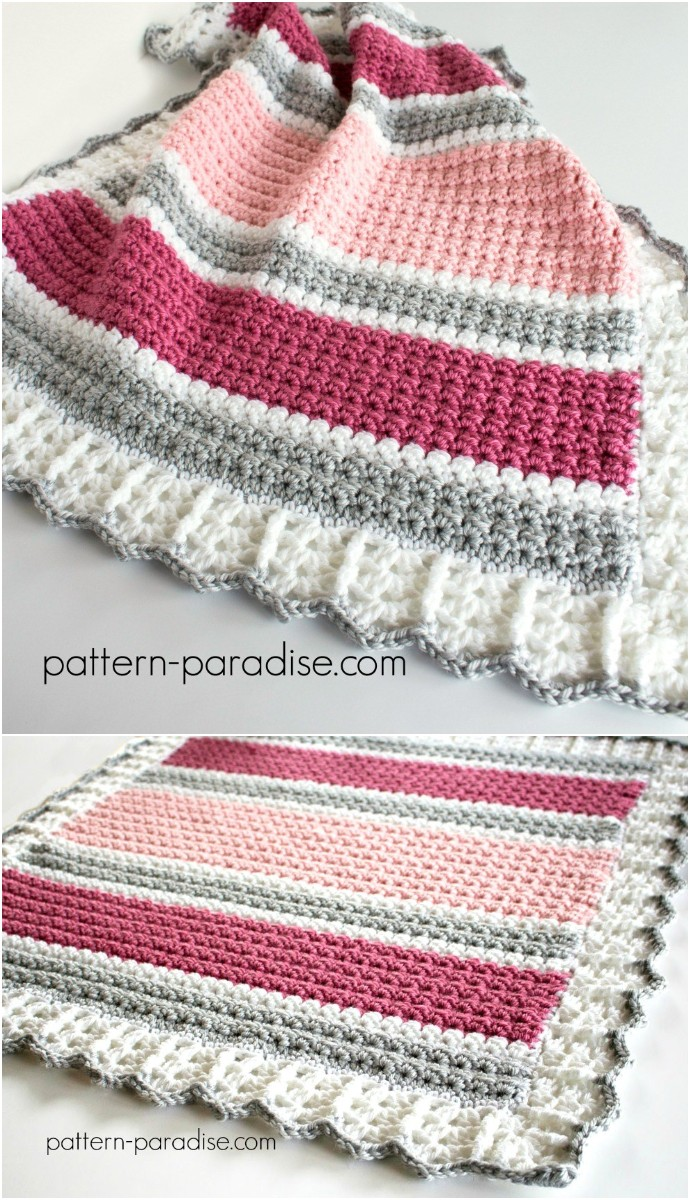 Free Crochet Pattern Essentials Baby Blanket