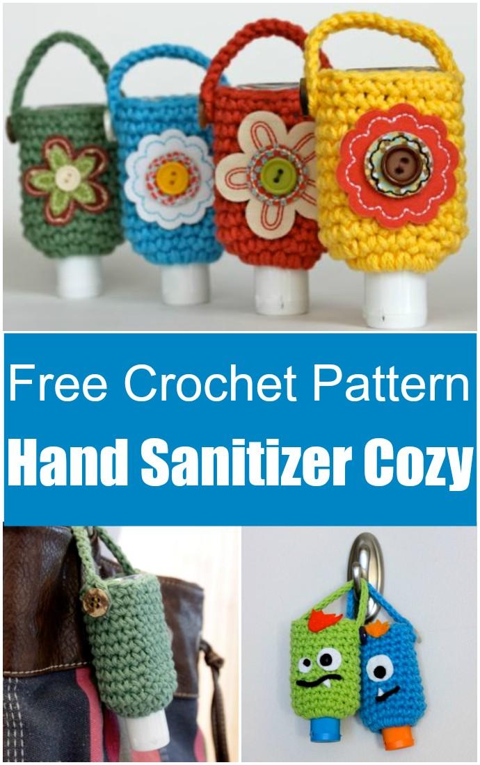 Free Crochet Pattern Hand Sanitizer Cozy
