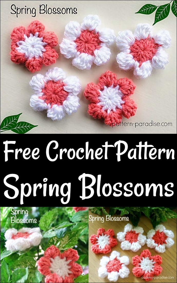 Free Crochet Pattern Spring Blossoms