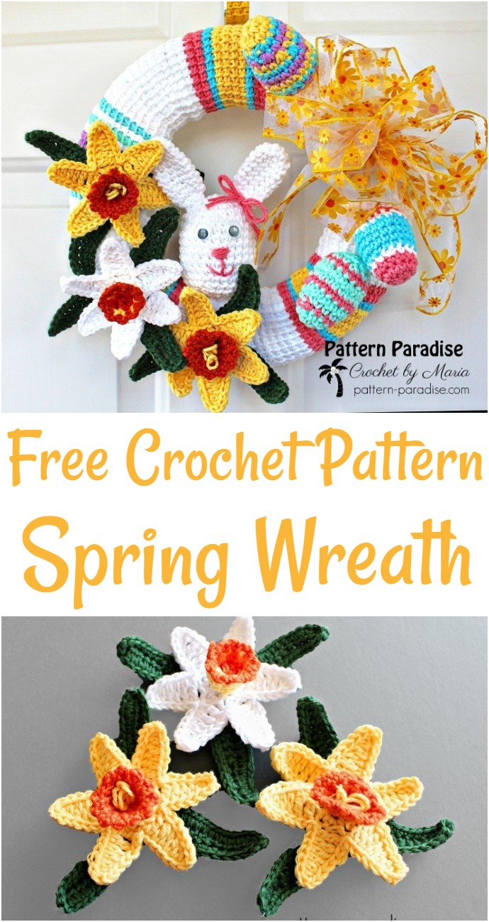 Free Crochet Pattern Spring Wreath