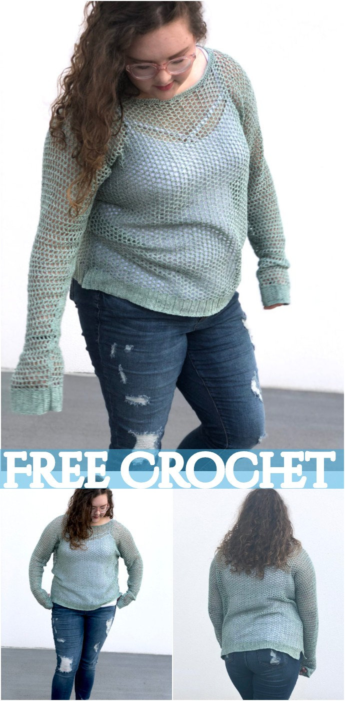 Free Crochet Recline Sweater
