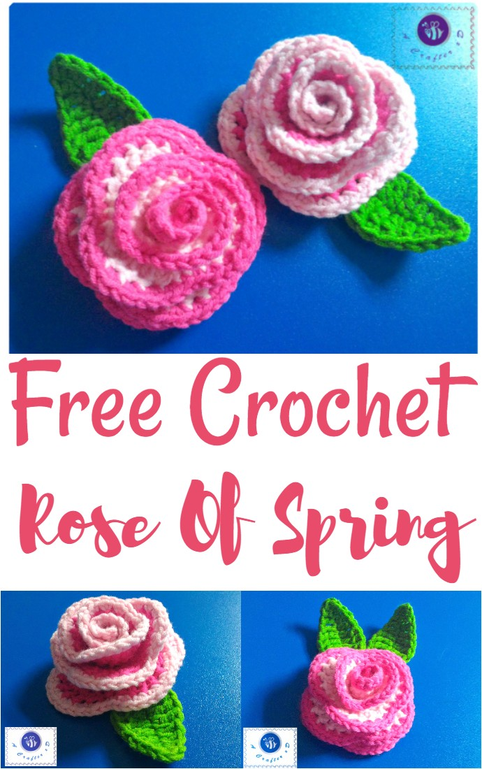 Free Crochet Rose Of Spring
